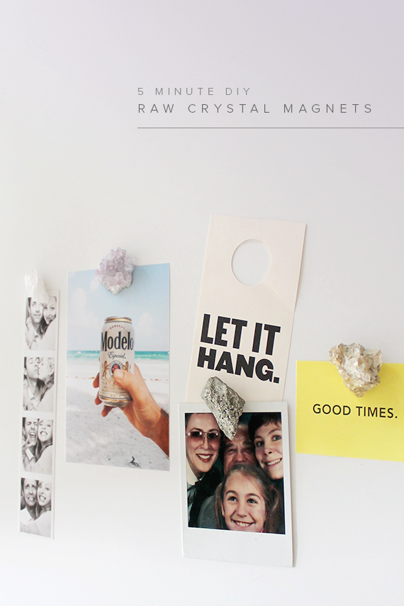 diy raw crystal magnets | almost makes perfect