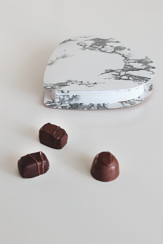 marble valentines chocolate boxes  | almost makes perfect
