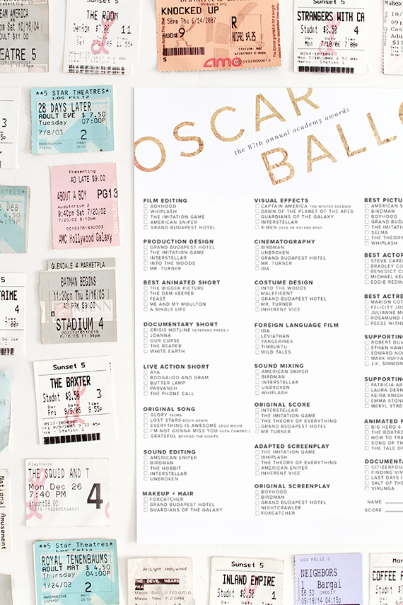 printable 87th oscar ballot | almost makes perfect