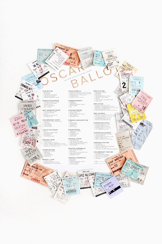 printable 87th oscar ballots | almost makes perfect
