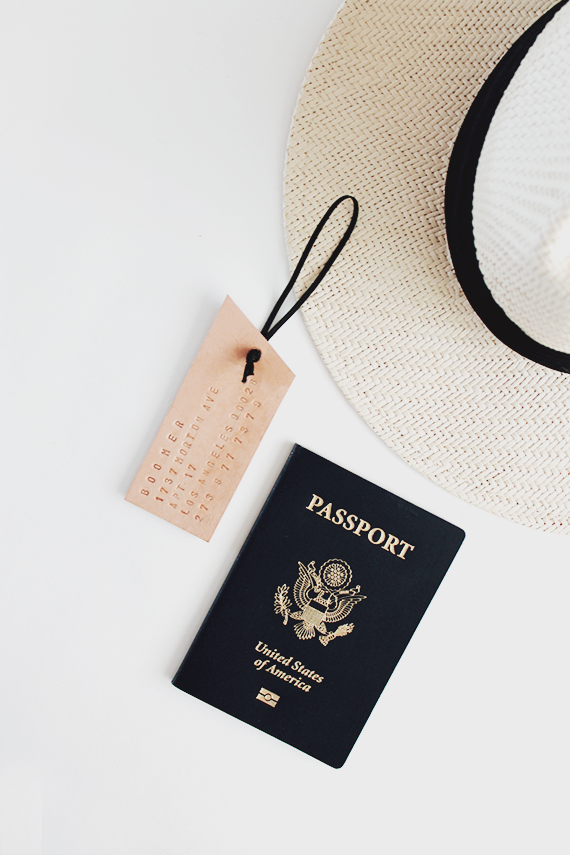 diy leather luggage tag | almost makes perfect