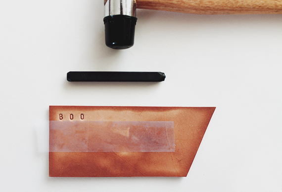 diy leather luggage tags | almost makes perfect