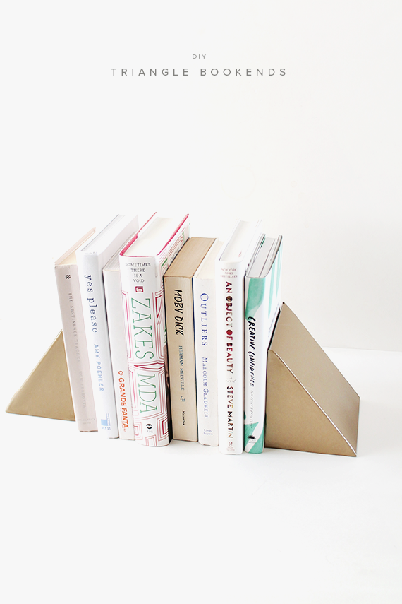 diy triangle bookends  |  almost makes perfect