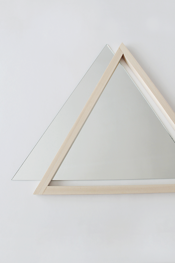 diy triangle mirror | almost makes perfect