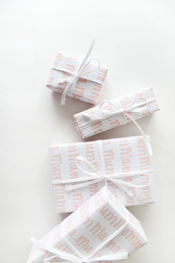 printable mothers day gift wrap | almost makes perfect