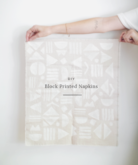 diy block printed napkins | almost makes perfect