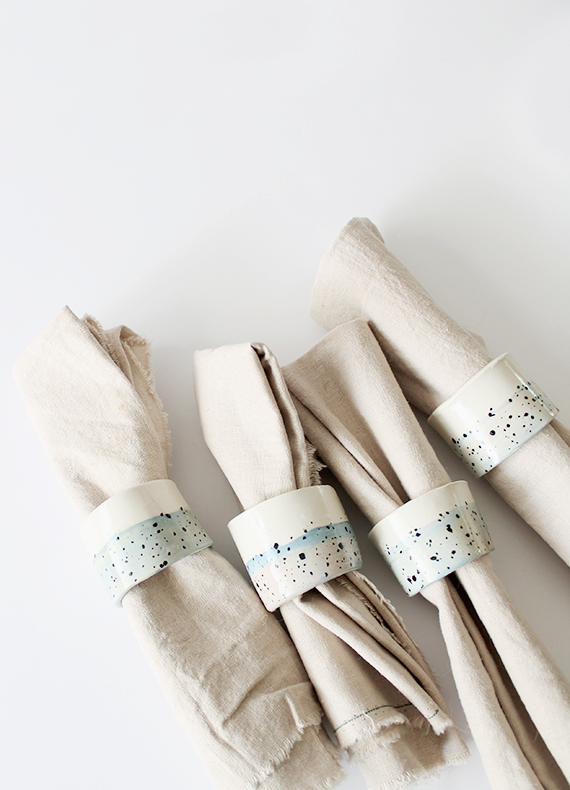 Diy Faux Ceramic Napkin Rings Almost Makes Perfect