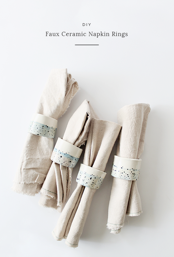 diy faux ceramic napkin rings | almostmakesperfect