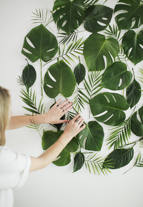 diy leaf backdrop | almost makes perfect