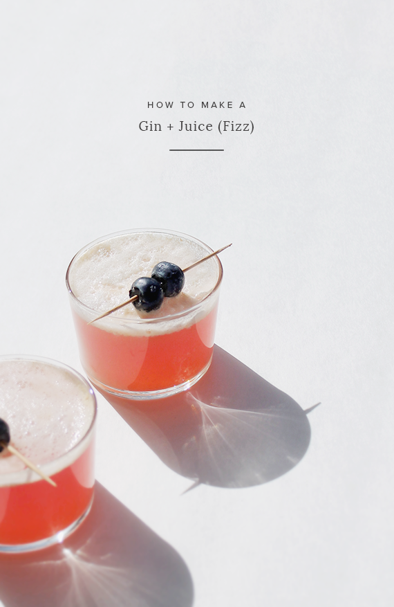 how to make a gin and juice fizz | almost makes perfect