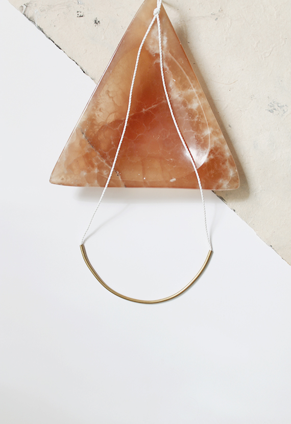 diy brass curve necklace | almost makes perfect