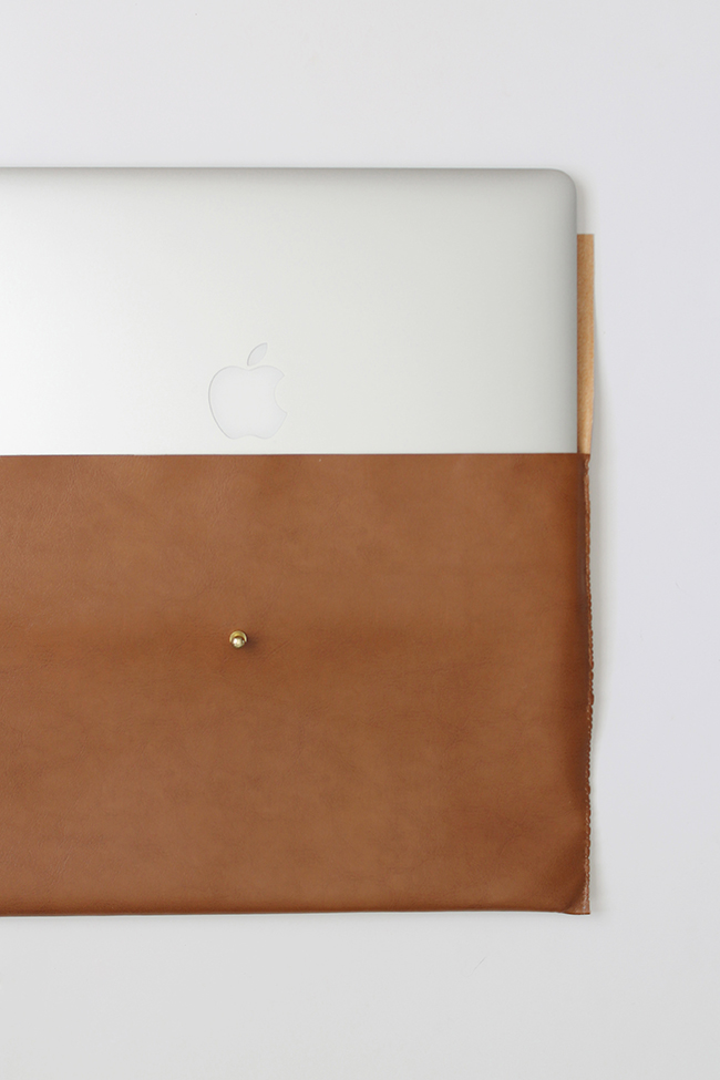 diy easy leather laptop case   almost makes perfect