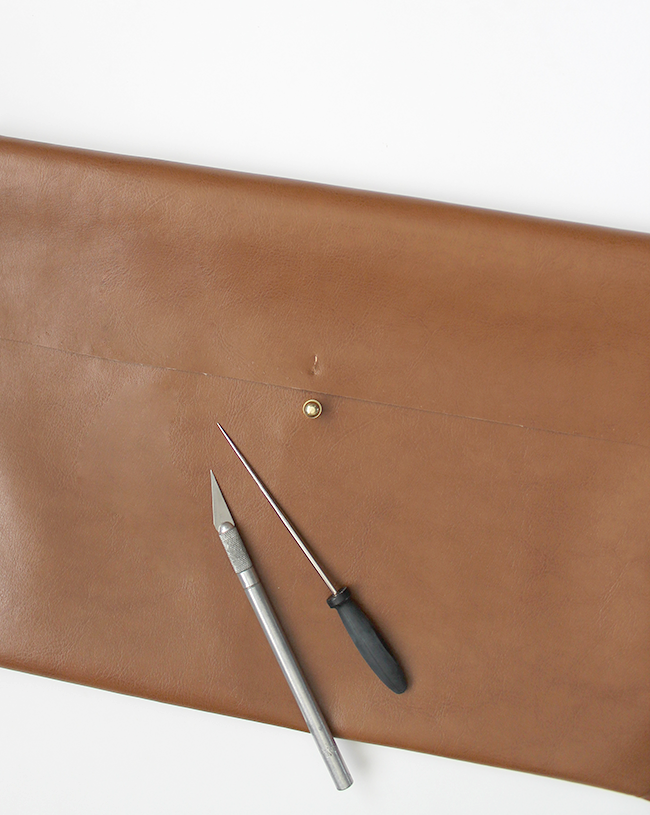 diy leather laptop case | almost makes perfect