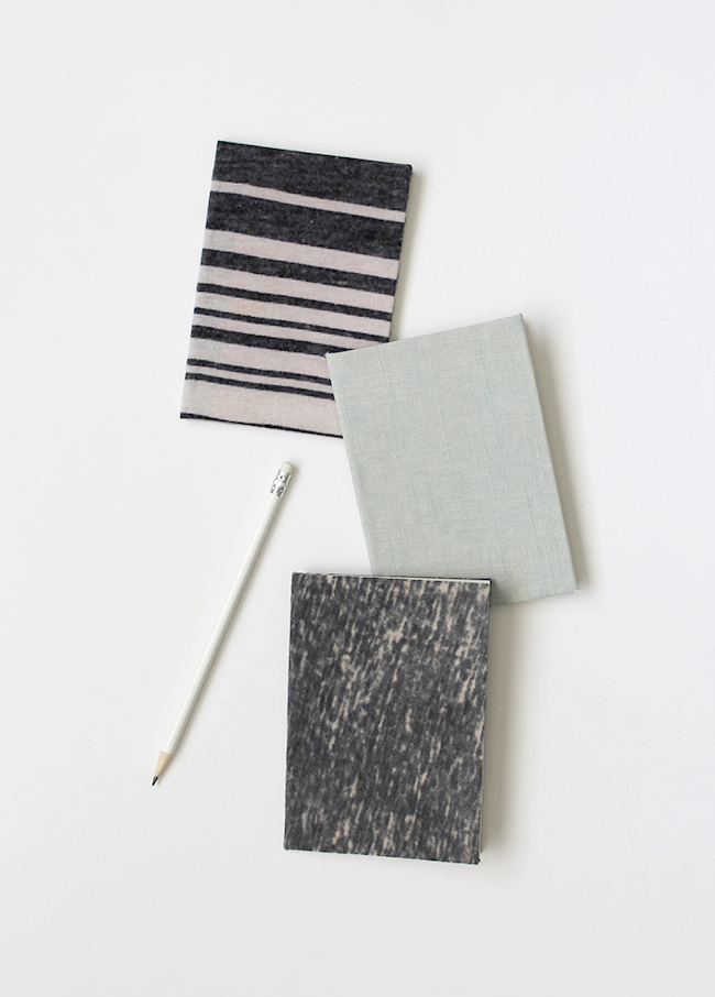 diy recycled fabric notebooks  |  almost makes perfect