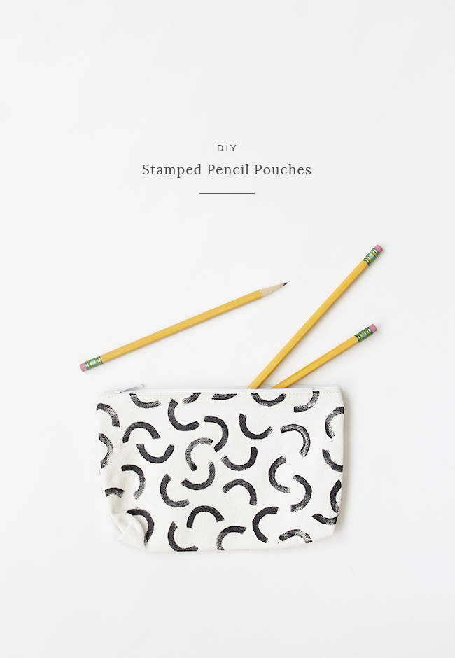 DIY stamped pencil pouches | almost makes perfect