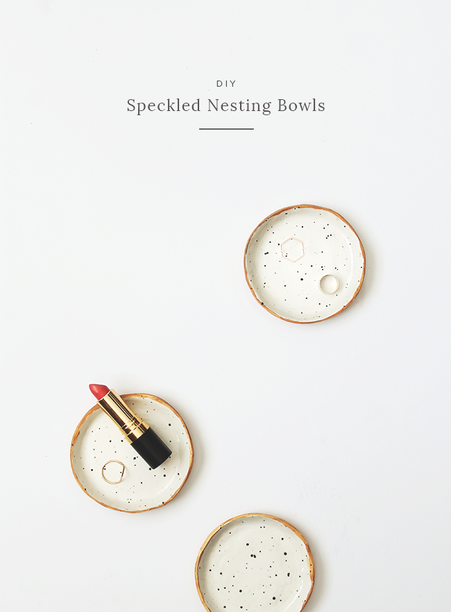 DIY speckled nesting bowls | almost makes perfect