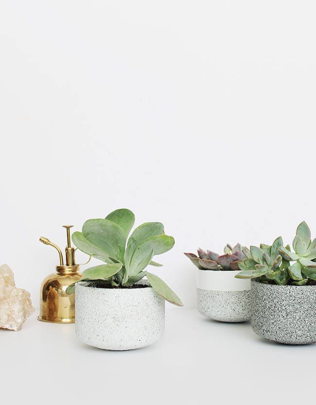 diy mini granite pots | almost makes perfect