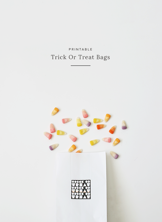 printable trick or treat bags | almost makes perfect