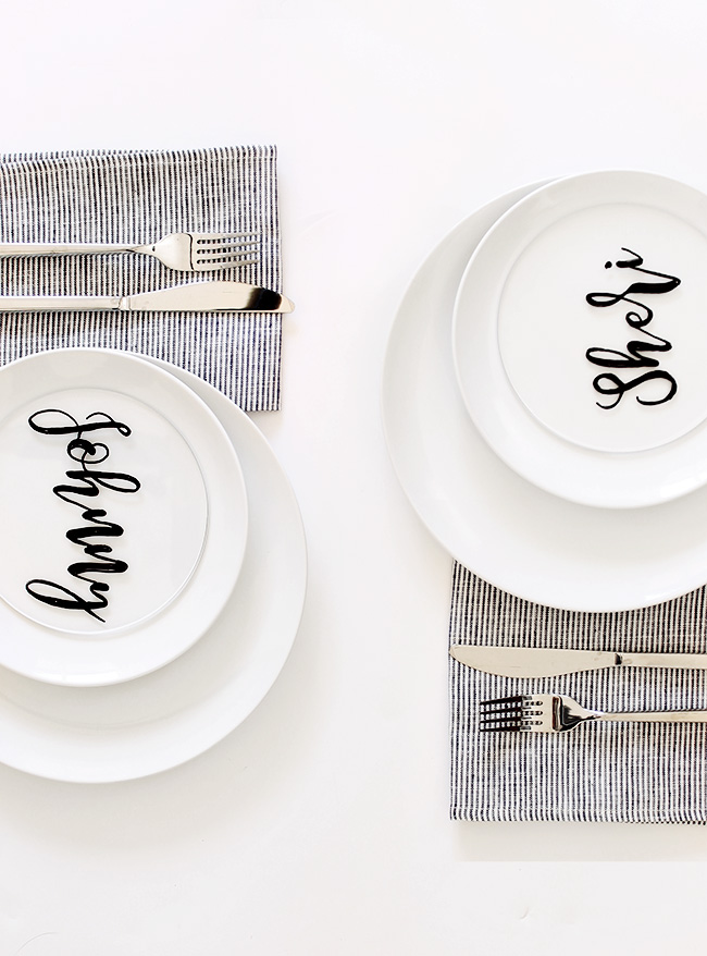 diy plexiglass placecards | almost makes perfect