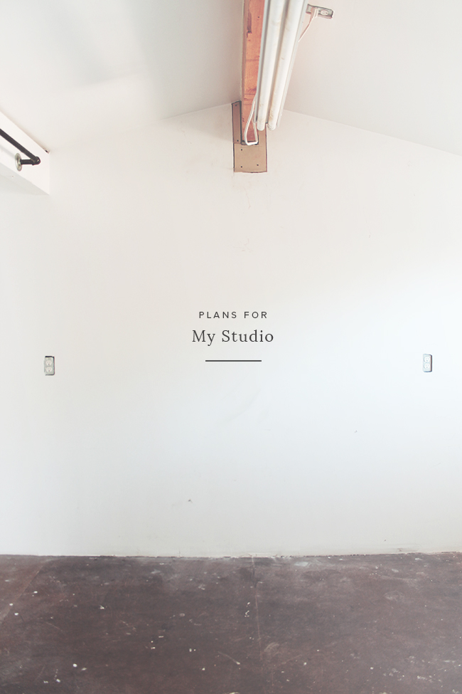 my studio | the plans