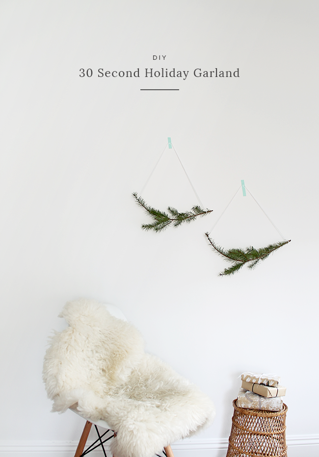 DIY 30 second garland | almost makes perfect