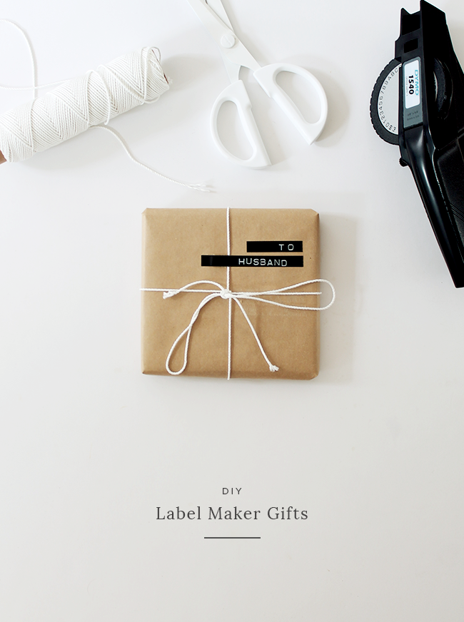 diy label maker gift wrap | almost makes perfect