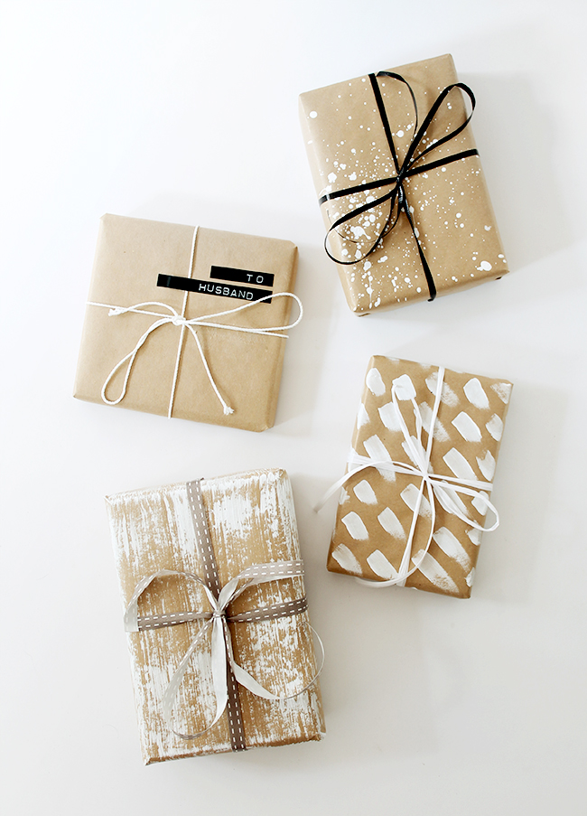 Four diy gift wrap ideas almost makes perfect for How to wrap presents with wrapping paper