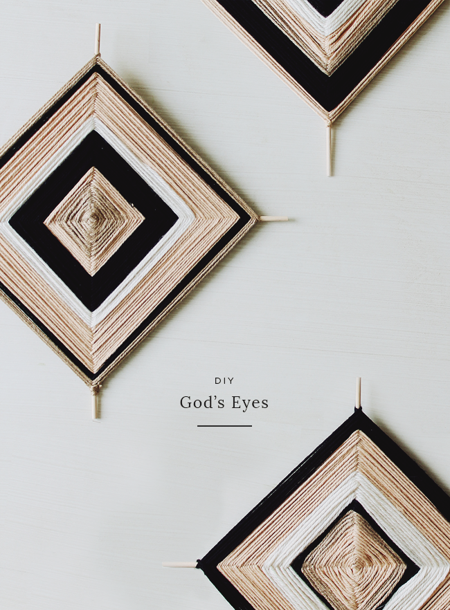 DIY gods eyes | almost makes perfect