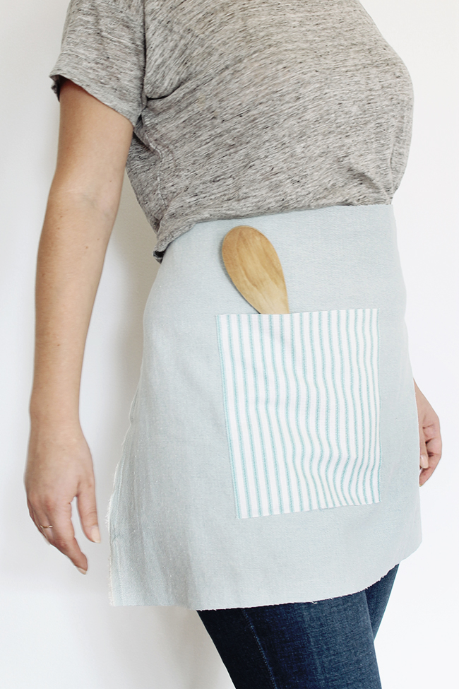 DIY no-sew waist apron | almost makes perfect