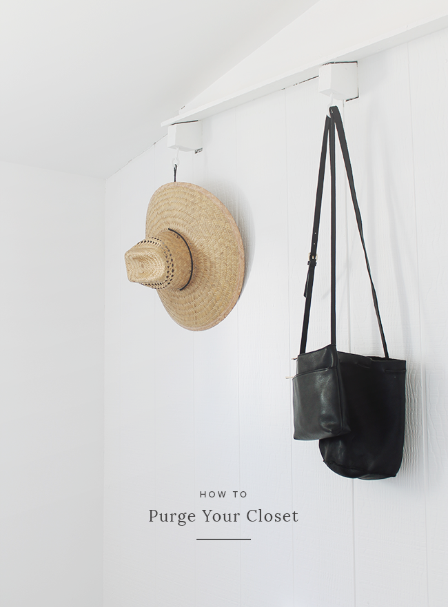 how to purge your closet | almost makes perfect