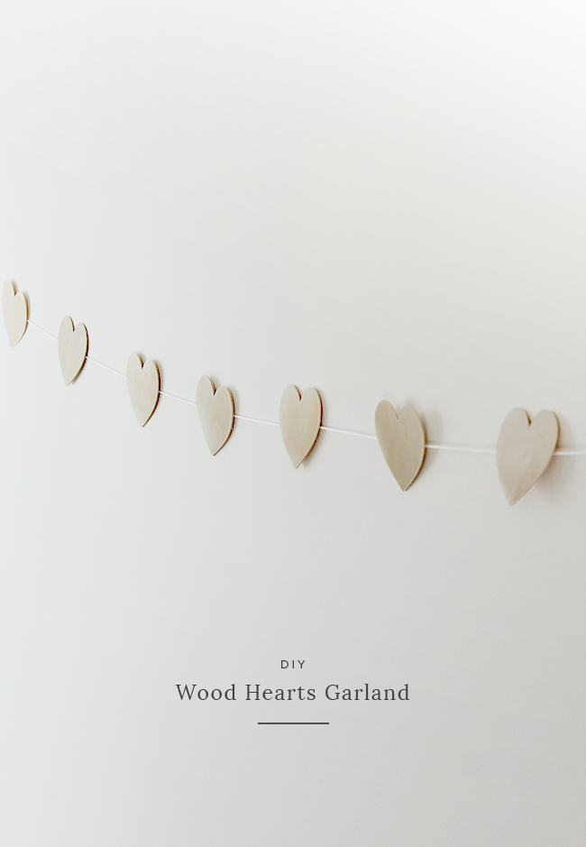 valentines wood heart garland diy