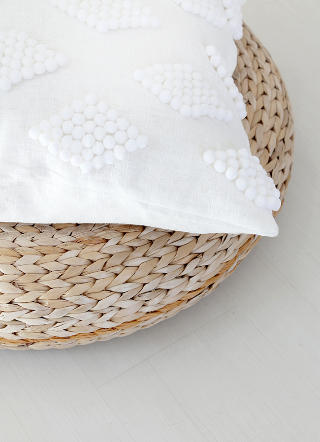 DIY modern pom pom pillow | almost makes perfect